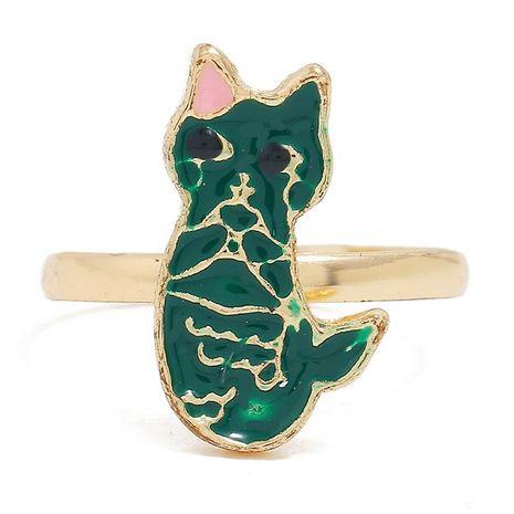 European and American simple kitten animal opening adjustable ring NHKQ152271's discount tags