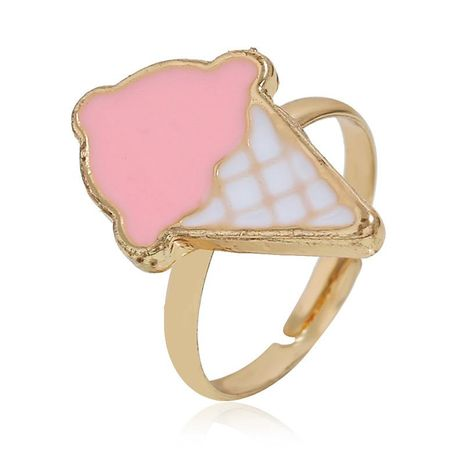 European and American simple ice cream alloy ring NHKQ152273's discount tags