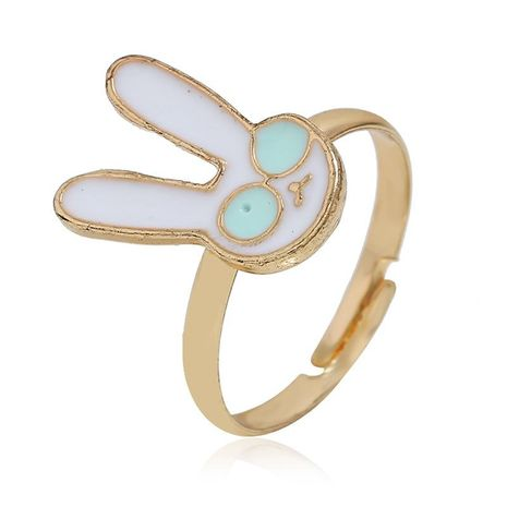 Fashionable opening adjustable rabbit alloy ring NHKQ152303's discount tags
