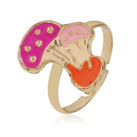 European and American simple mushroom alloy ring NHKQ152313's discount tags