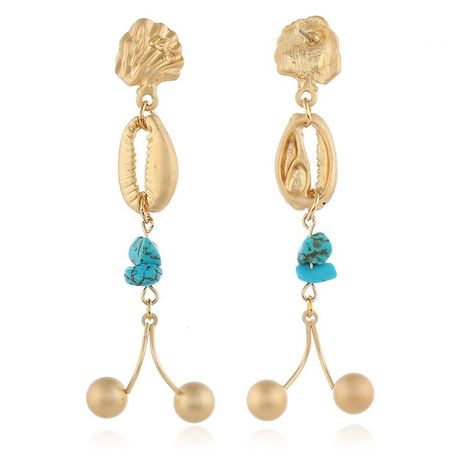 Korean fashion trend shell earrings NHKQ152330's discount tags