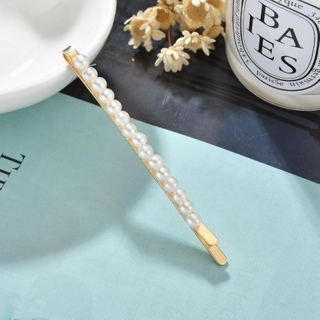 Fashion single row small pearl girl alloy hair accessories NHBQ152333's discount tags