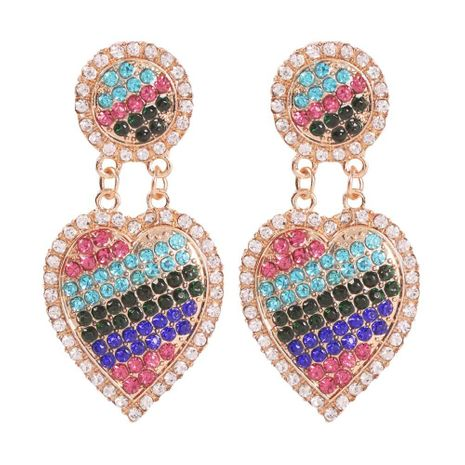 Fashion exaggerated alloy love diamond retro earrings NHMD152334's discount tags