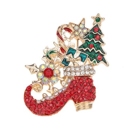 Creative Christmas High Heel Alloy Brooch NHKQ152339's discount tags