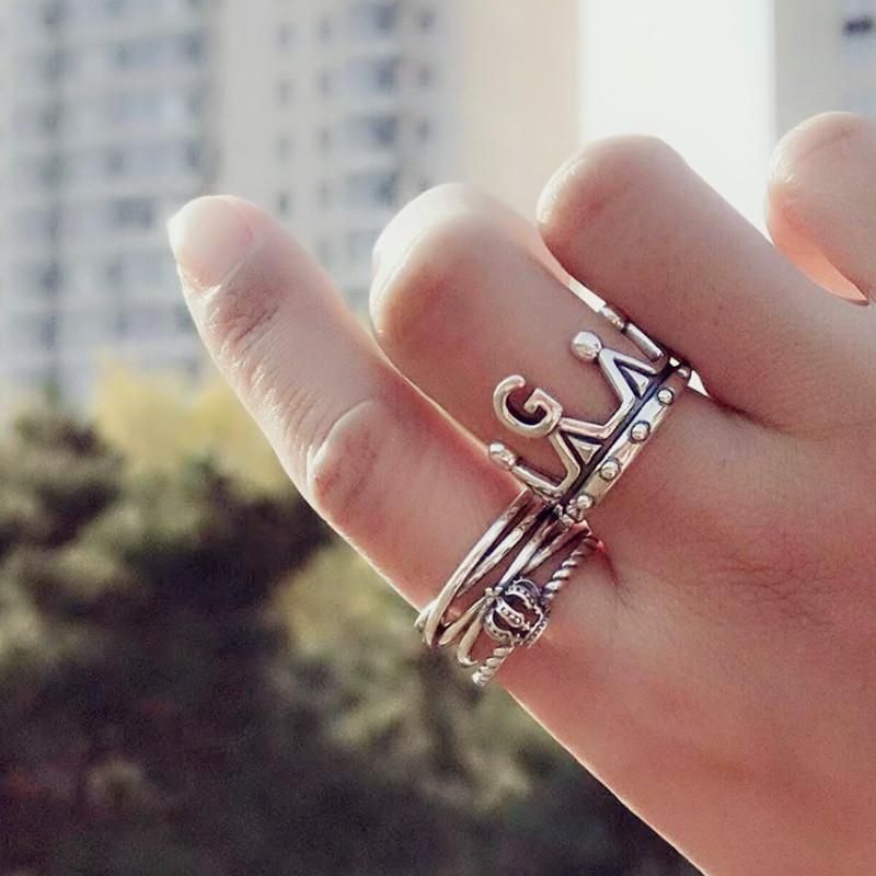 Fashion retro wind thumb index finger punk wind ring NHYQ152378