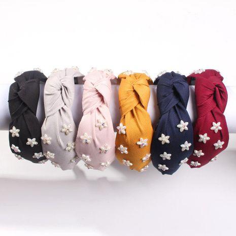 Fashion resin Mori flower artificial gemstone wide-brimmed headband NHMD152386's discount tags