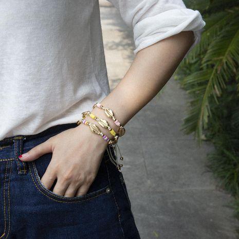Shell Soft Pottery Geometric Adjustable Bracelet NHXR152392's discount tags