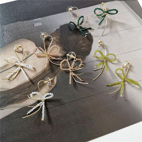 Fashion Color Crystal Smart Bow Earrings NHYQ152400's discount tags