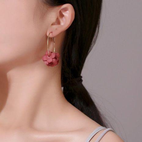 Sweet multi-layered colored petals hoop earrings NHDP152413's discount tags