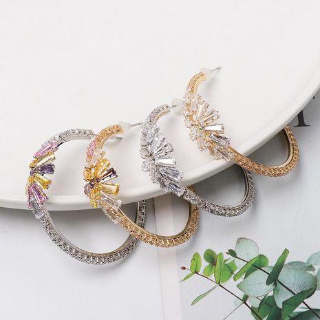 Baroque vintage C-shaped diamond hoop earrings NHJJ152420's discount tags