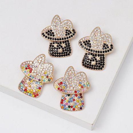 Colored diamond stud earrings NHJJ152421's discount tags