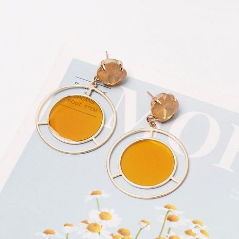 Color acrylic round earrings NHJJ152422's discount tags