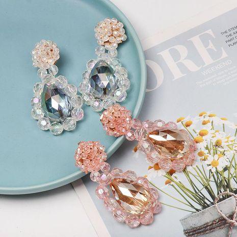 Fashion drop-shaped crystal earrings NHJJ152429's discount tags