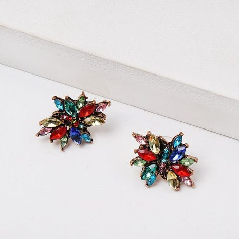 Colored rhinestone geometry stud earrings NHJJ152432's discount tags