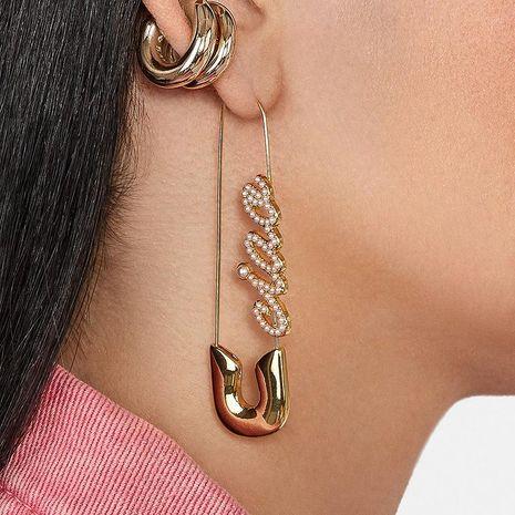 Fashion English Diamond Stud Earrings NHJJ152435's discount tags