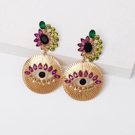 Colored diamond eye alloy earrings NHJJ152437's discount tags