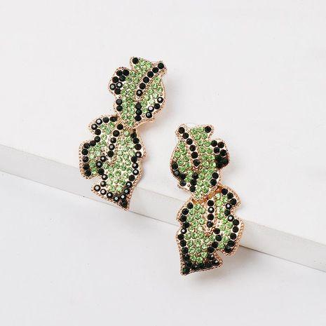 Fashion color diamond earrings NHJJ152438's discount tags