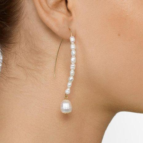 New pearl hoop earrings NHJJ152440's discount tags