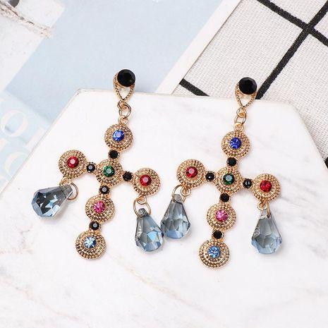 Fashion dripping cross earrings NHJJ152455's discount tags
