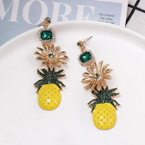 New alloy flower pineapple earrings NHJJ152456's discount tags