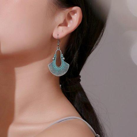 Bronze geometric metal hoop earrings NHDP152462's discount tags