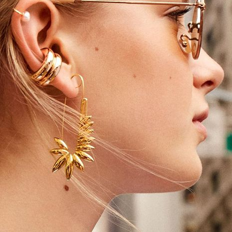 Fashion Leaf Alloy Pin Earrings NHJJ152465's discount tags