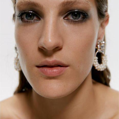 Boucles d'oreilles en alliage de diamant à la mode NHJQ152470's discount tags