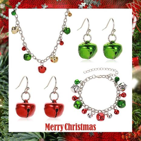 New Christmas Color Bell Necklace Bracelet Earrings NHDP152483's discount tags