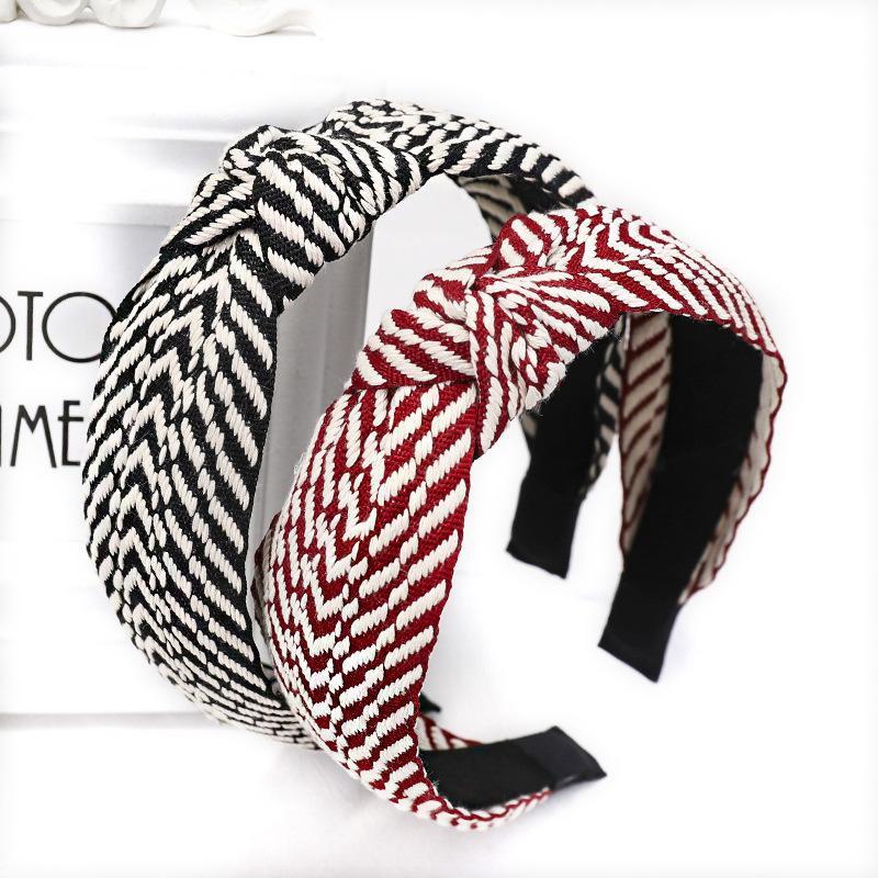 Fashion cloth corrugated knotted headband NHOU152503