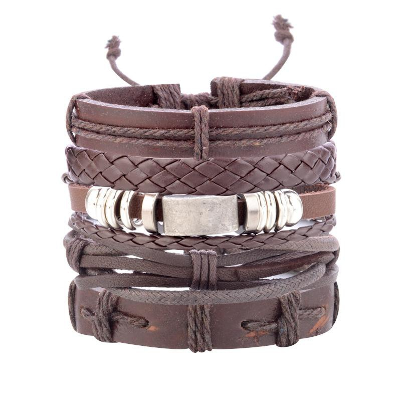 Fashion hand-woven leather bracelet set NHPV152535
