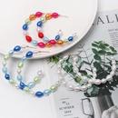 New Cshaped colored pearls hoop earrings NHJJ152419
