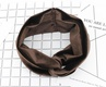 Sweet and simple wide velvet solid color knotted hair band NHOU152504