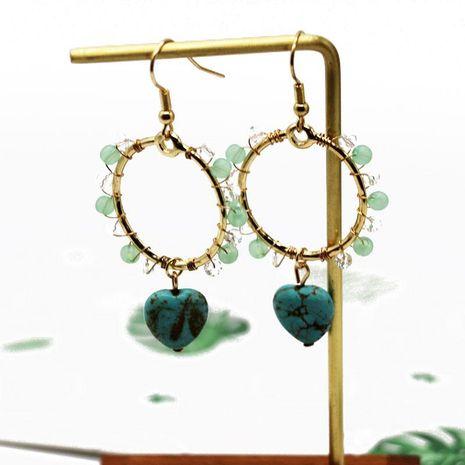 Boucles d'oreilles mode perles tissées simples NHOM152559's discount tags