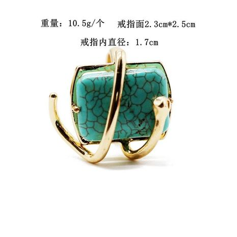 Fashion copper material wrapped square wrapped stone ring NHOM152566's discount tags