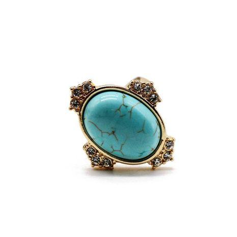 Bague diamant turquoise vintage avec pierres précieuses NHOM152574's discount tags