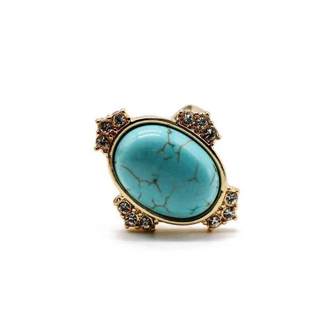 Vintage turquoise gemstone diamond ring NHOM152574's discount tags