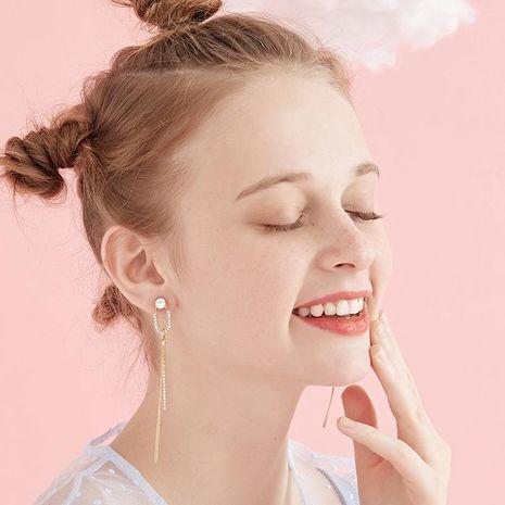 Temperament tassel port wind fragrant grandmother earrings NHLL152576's discount tags