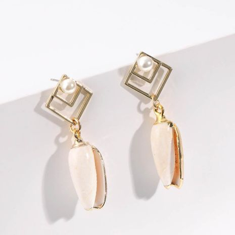 Fashion Conch Shell Alloy Earrings NHLL152575's discount tags