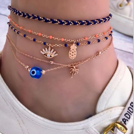 Creative popular woven alloy chain anklet bracelet NHGY152583's discount tags