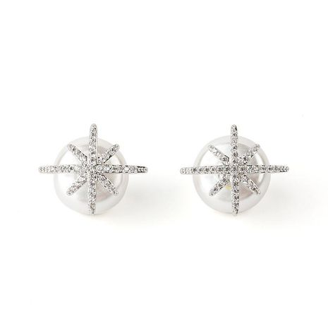 Sleek minimalist star super fairy alloy earrings NHLL152596's discount tags
