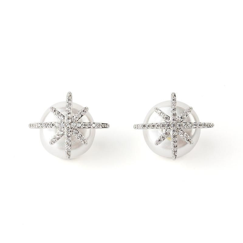 Sleek minimalist star super fairy alloy earrings NHLL152596