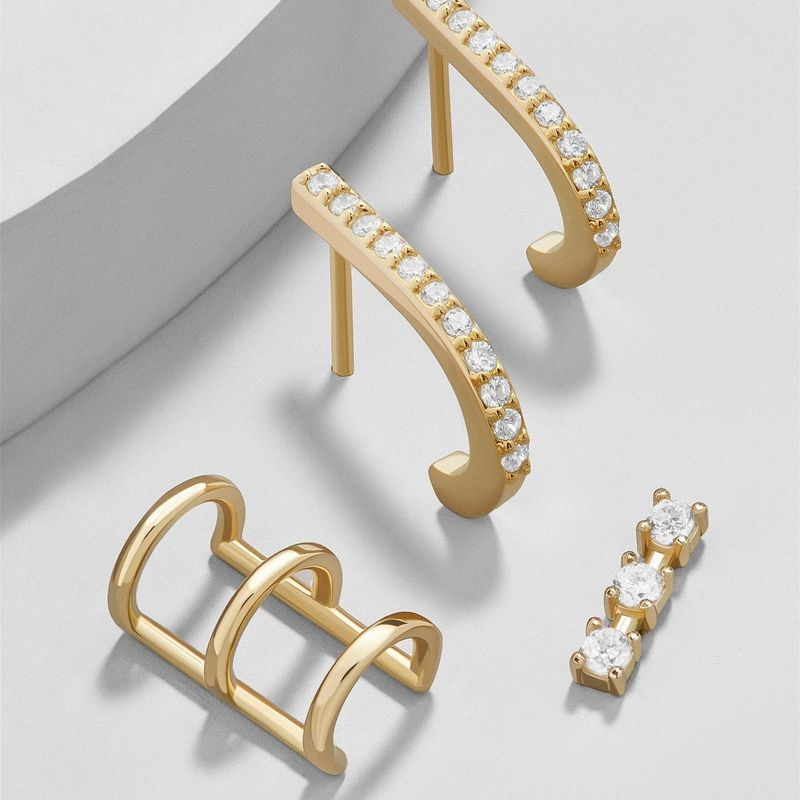 Fashionable and simple hollow U-shaped alloy earrings NHLL152601