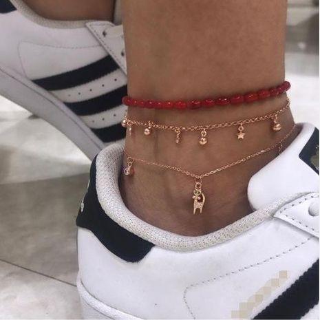 Bracelet de cheville à cinq branches multicouche mode NHGY152612's discount tags