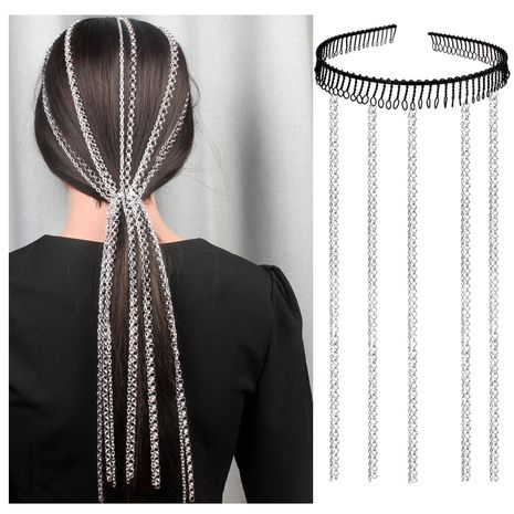 Womens Geometric Aluminum Chain Hair Band & Headbands NHCT152627's discount tags