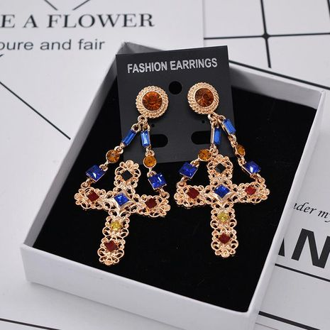 Womens Geometry Electroplating Alloy Earrings NHNT152628's discount tags