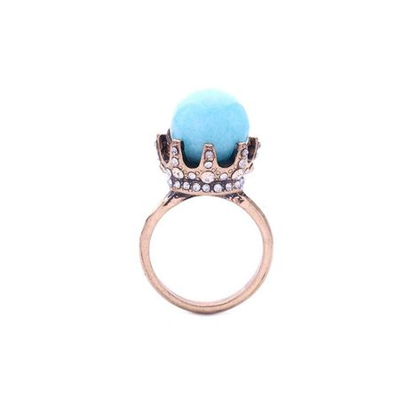 Vintage artificial gemstone crown alloy ring NHQD152631's discount tags