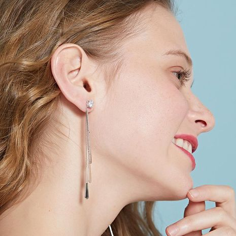 Womens Geometry Electroplating Alloy Earrings NHLL152639's discount tags