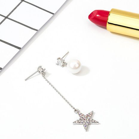 Womens Star Plating Alloy Earrings NHLL152649's discount tags