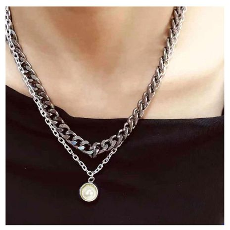 Womens V-shaped plated aluminum Necklaces NHCT152679's discount tags