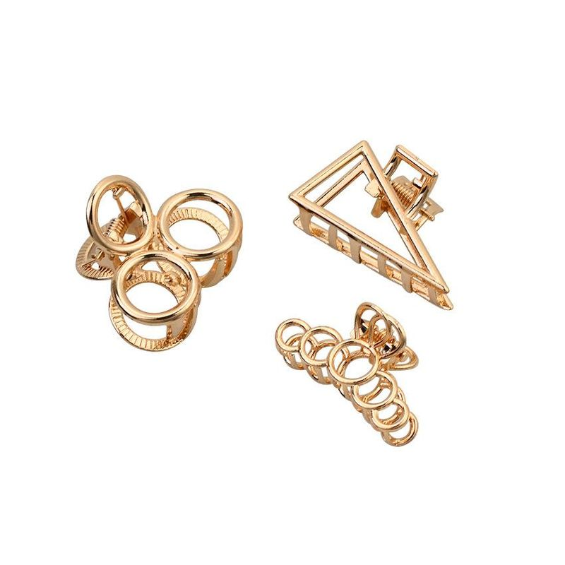 Simple geometric triangle round alloy hair accessory NHHN152701